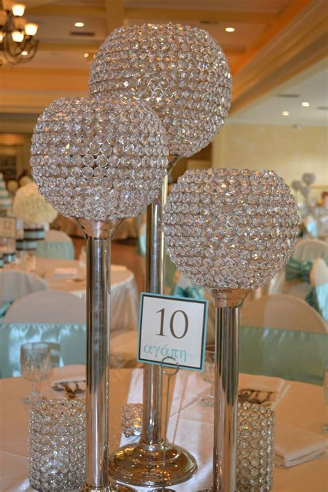 bling candle holders   centerpieces   Bling Wedding