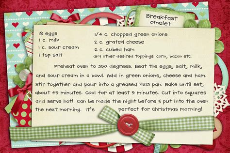 printable holiday recipes recipe christmas morning breakfast omelet pinching your