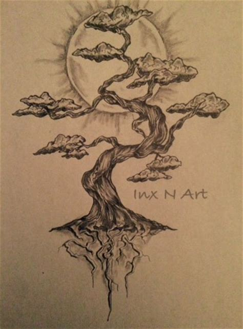 japanese tree tattoo bonsai tree mural sketch by ranz bonsai
