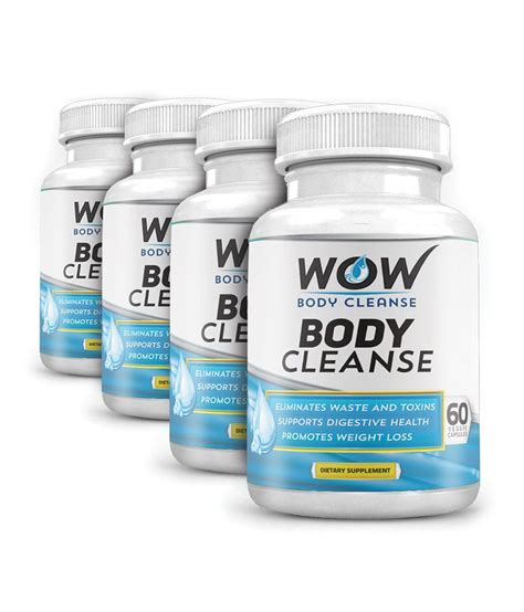 Wow Detox Buy by Wow Cleanse 60 Veg Capsules Pack Of 4 Buy Wow