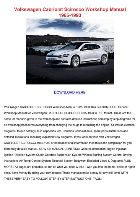 small engine repair manuals free download 1985 volkswagen passat free book repair manuals volkswagen cabriolet scirocco workshop manual by katlynjacobsen issuu