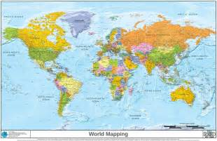 Detailed World Map by World Political