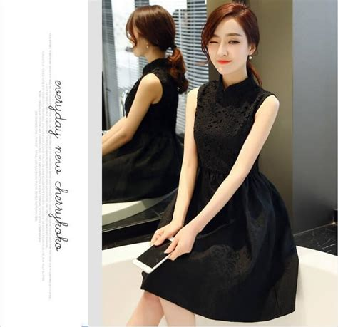 Modern Fashion Cheongsam Black modern fashion cheongsam ds4274 black misel id