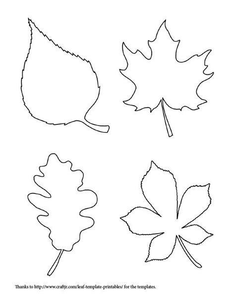 autumn leaf template free printables printable leaf templates coloring home