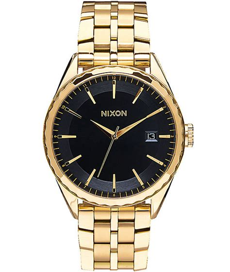 nixon minx black gold zumiez