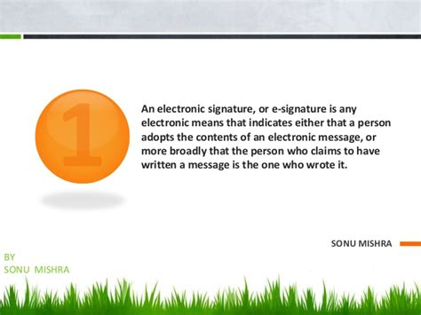 Bsc Mba Meaning by Electronic Signature
