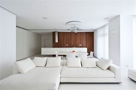 All Interiors by Modern White Apartment Interior By Alexandra Fedorova 2