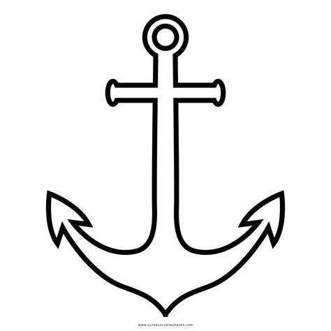 barco con ancla dibujo anclas de barcos para colorear imagui dibujo de ancla para