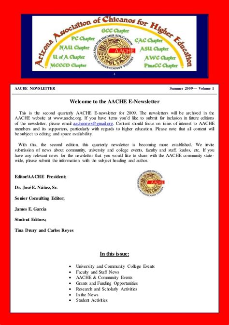 quarterly newsletter template summer 2009 free html newsletter template 1