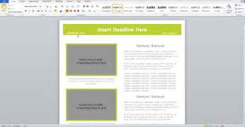 word document newsletter templates rtf templates word