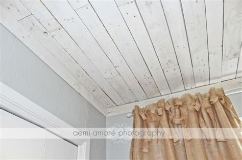 PALLET CEILING IDEA! This is the white washed ceiling I