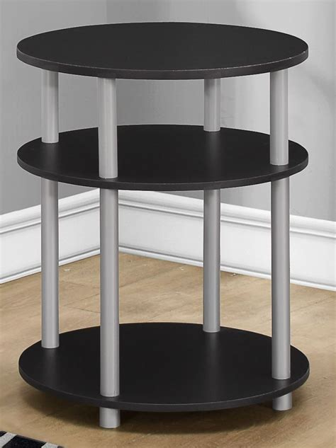 accent table black black round accent table 3133 monarch