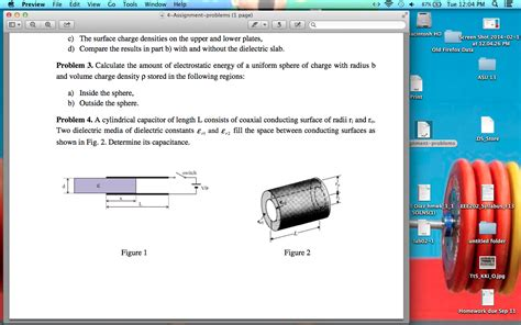 a cylindrical capacitor is made of two thin walled concentric cylinders a cylindrical capacitor of length l consists of co chegg
