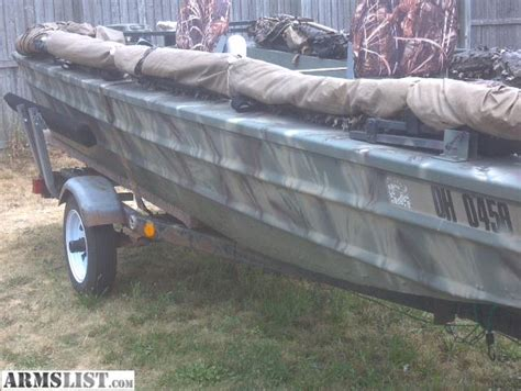 duck hunting boats for sale in ohio armslist for sale trade 15 ft duck hunting fishing boat