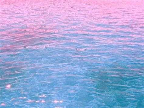 pink water pink and blue on