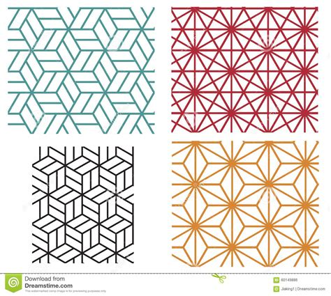 geometric line pattern vector geometric line style vector patterns stock vector image