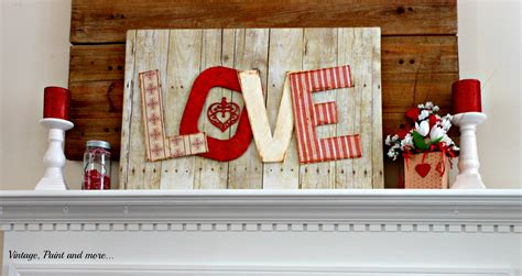 Romantic Home Decorating Ideas by Diy Valentine Mantel Vintage Paint And More