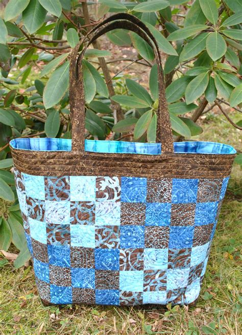 patchwork tote bag pattern large quilted tote checker by