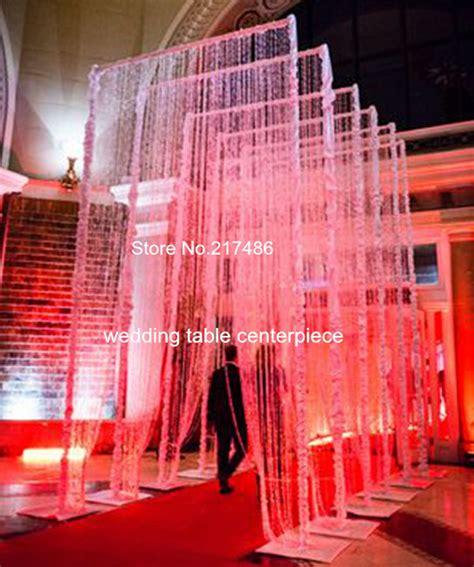 crystal curtains wedding 3ftx12ft 90x360cm acrylic crystal curtain for wedding