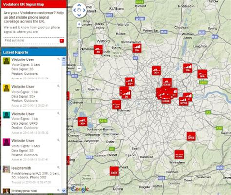 vodafone mail mobile vodaphone launches mobile signal strength finder