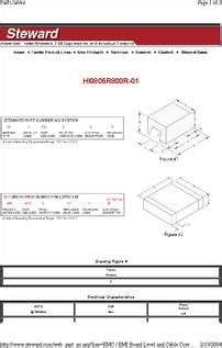 differential mode choke datasheet hi0805r800r 01 datasheet specifications filter type differential mode single