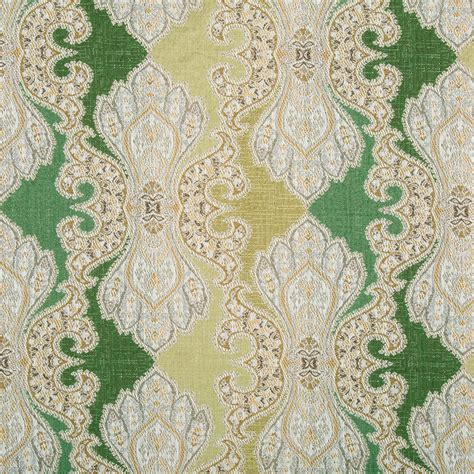 Contemporary Green Damask Upholstery Fabric Modern Furniture