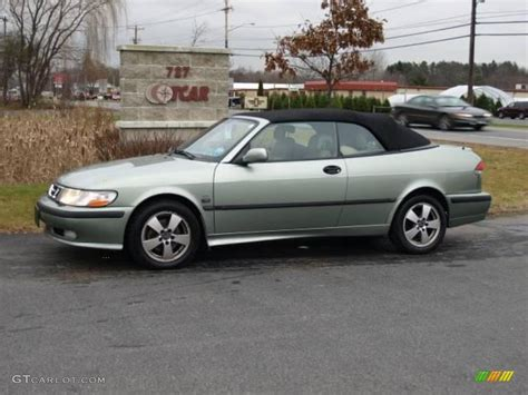 saab convertible green 2002 sun green metallic saab 9 3 se convertible 22275292
