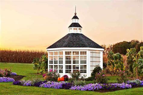Octagon House Kits by Little Cottage Company 12x12 Octagon Garden Shed