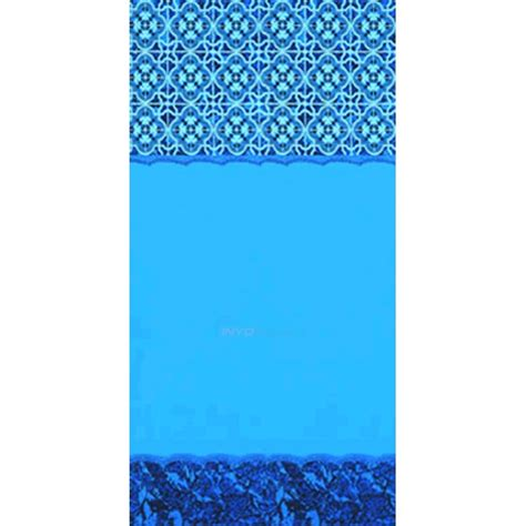 24 ft beaded pool liner for 52 in wall swimline 52 inch beaded pool liner 15 x 24 ft oval 20ga