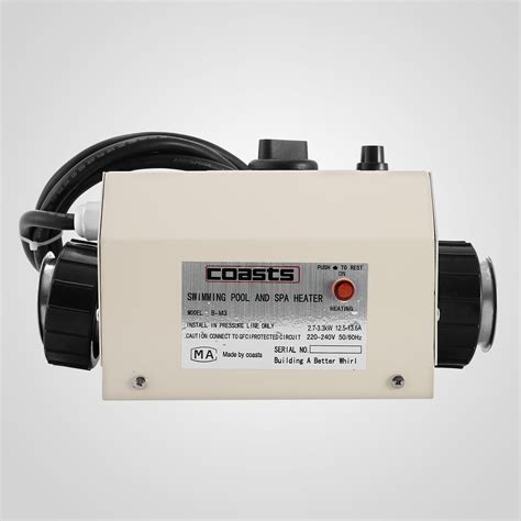 3KW 220 240V 50MM Bath SPA Hot Tub Electric Water Heater Thermostat Best   eBay