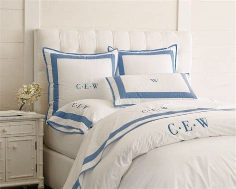 white comforter with blue trim border bedding in all white with blue trim home design
