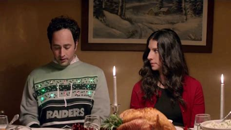 oakland raiders light up sweater nfl shop tv commercial christmas dinner ispot tv