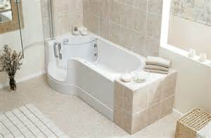 Luxury easy access step in bath the shower screen opens outwards