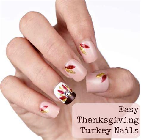 Simple Thanksgiving Nail