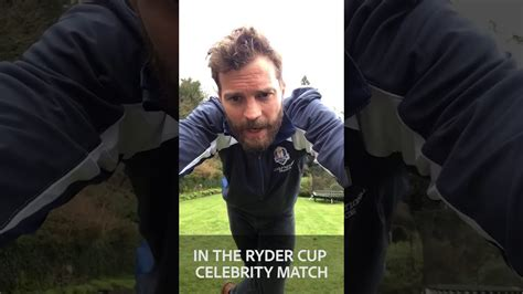jamie dornan ryder cup jamie dornan practicing for the ryder cup celeb match