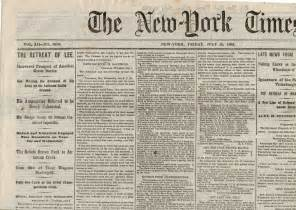 This 1863 issue of the new york times reports the aftermath of the