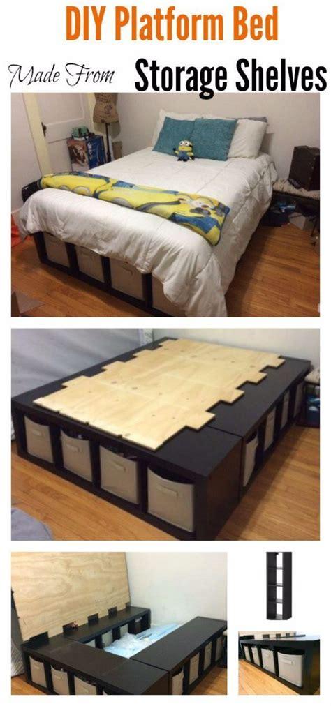 diy platform beds   impressive bedroom diy