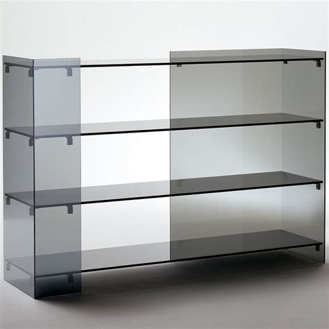 Glass Bookshelf Glas Italia Surface Glass Bookshelf Modern Bookcases