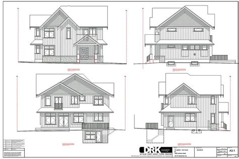 elsa haus residential elevation drawings search misc