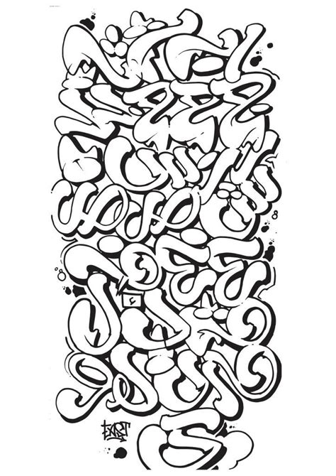 letters  style  graffiti alphabet
