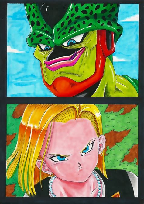 cell and android 18 cell versus android 18 by acid flo on deviantart