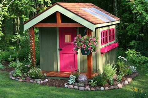 style your she shed 23 affordable garden shed ideas