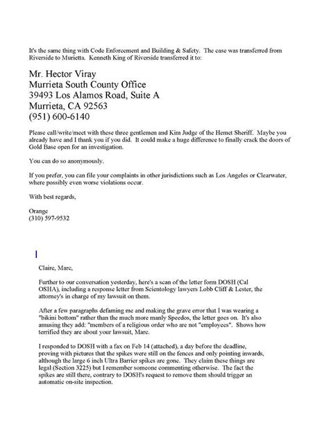 Response Letter To Investigation Letter From Cal Osha Stating That There Are No Hazards At Golden Era From Ao Why We Protest