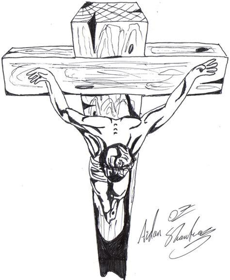 Christ On The Cross By Aidan8500 On Deviantart Jesus On The Cross Drawings