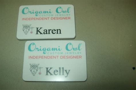Origami Name Tag - 17 best images about origami owl and miche bag name badges