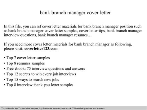 bank manager cover letter bank branch manager cover letter