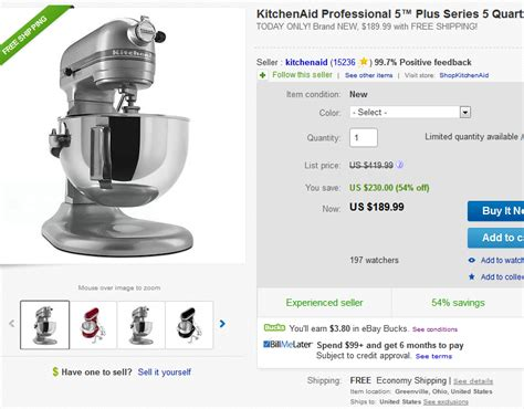 Uberi.com » KitchenAid KV25G0X Professional 5 Plus Stand