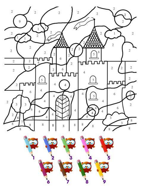 Coloriage Le Chateau Magique Coloriages Magiques