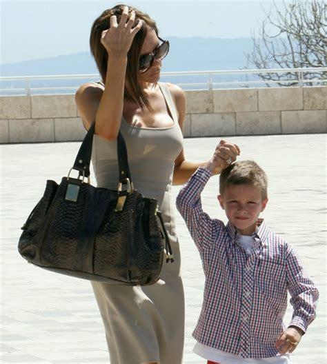The Beckhams Celebrate Easter With The Michael Kors Rehearsal Handbag by Beckham With Michael Kors Rehearsal Satchel