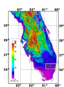 topographical map of florida an airborne laser topographic mapping study of eastern